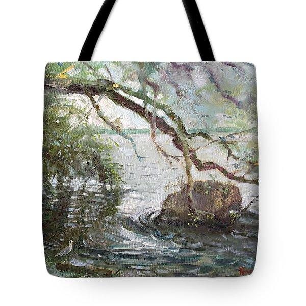 Niagara River Side Tote Bag by Ylli Haruni
