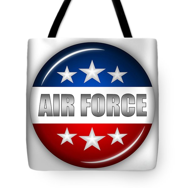 Nice Air Force Shield Tote Bag by Pamela Johnson