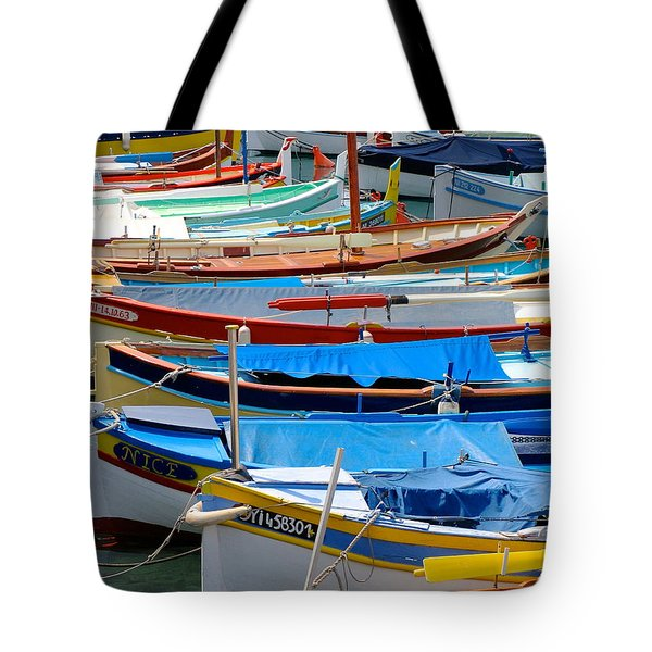 Nice Boats  Tote Bag by Suzanne Oesterling