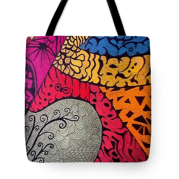 Nice Colors In A Doodling Designs I Tote Bag
