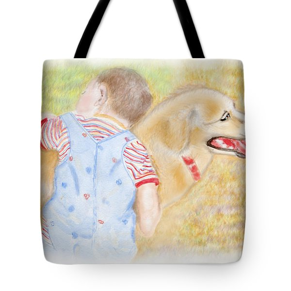 Tote Bag featuring the digital art Nice Doggie by Arthur Eggers