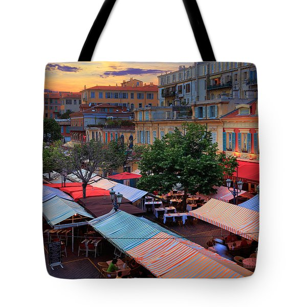 Nice Flower Market Tote Bag by Inge Johnsson