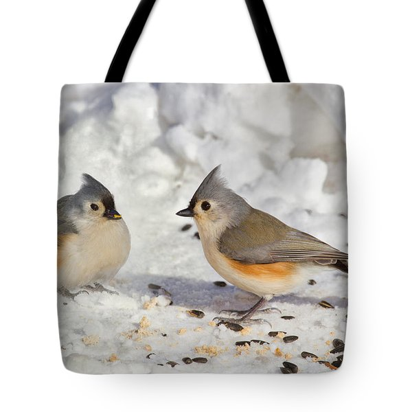 Nice Pair Of Titmice Tote Bag