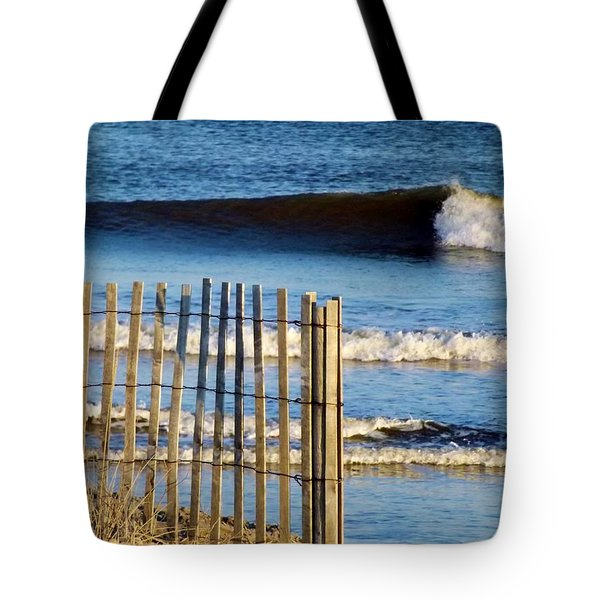 Nice Wave Tote Bag