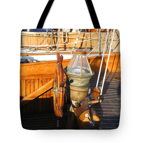 Nice Wheel Captain Tote Bag by Kym Backland