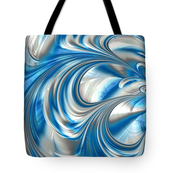 Nickel Blue Abstract Tote Bag