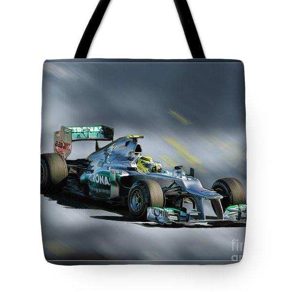 Nico Rosberg Mercedes Benz Tote Bag