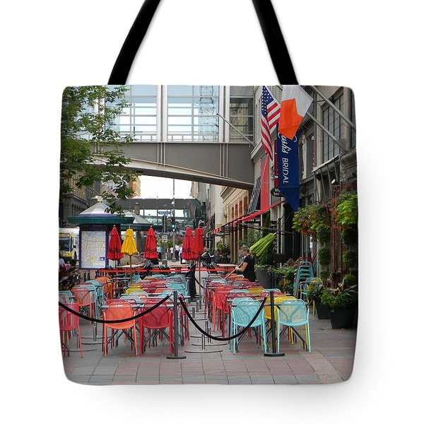 Nicollet Ave. Restaurant 1 Minneapolis Tote Bag by Mark Minier