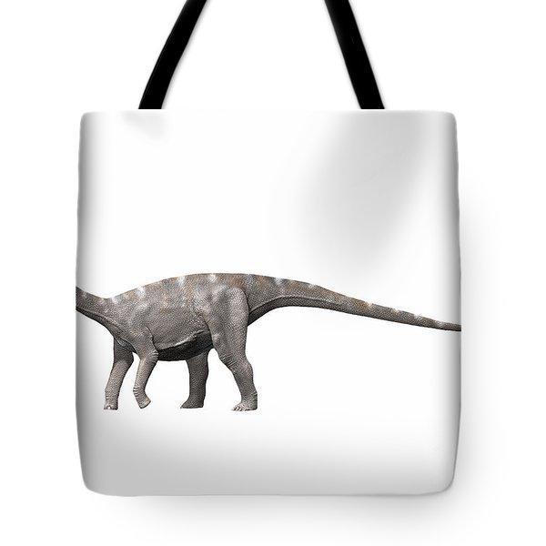 Nigersaurus Taqueti, Early Cretaceous Tote Bag by Nobumichi Tamura