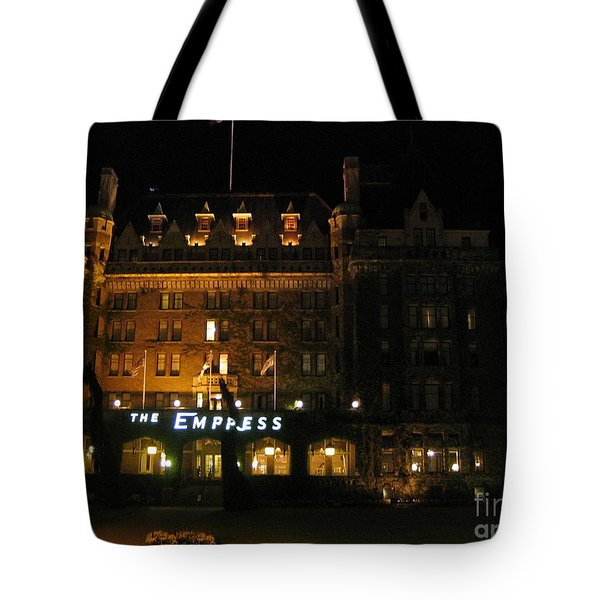 Night At The Empress Hotel Tote Bag