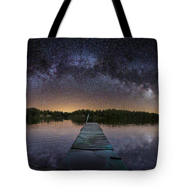 Night At The Lake  Tote Bag