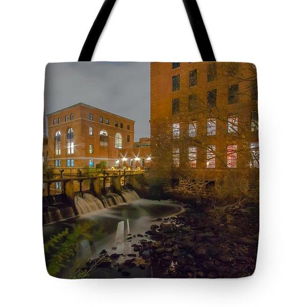 Night At The River Tote Bag