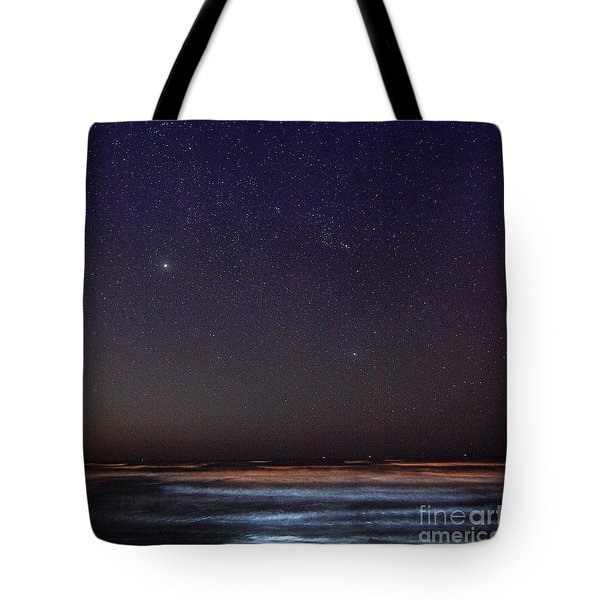 Tote Bag featuring the photograph Night Beach by Martin Konopacki