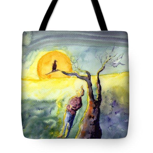 Night Bird Omen Tote Bag