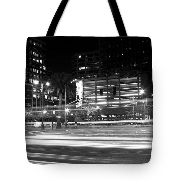 Night Blurs Tote Bag