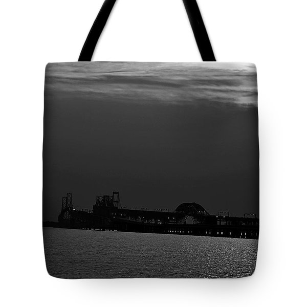 Night Bridge Tote Bag