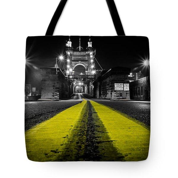 Night Bridge Tote Bag by Keith Allen