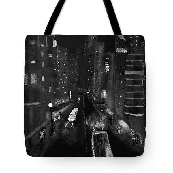 Night City Scape Tote Bag