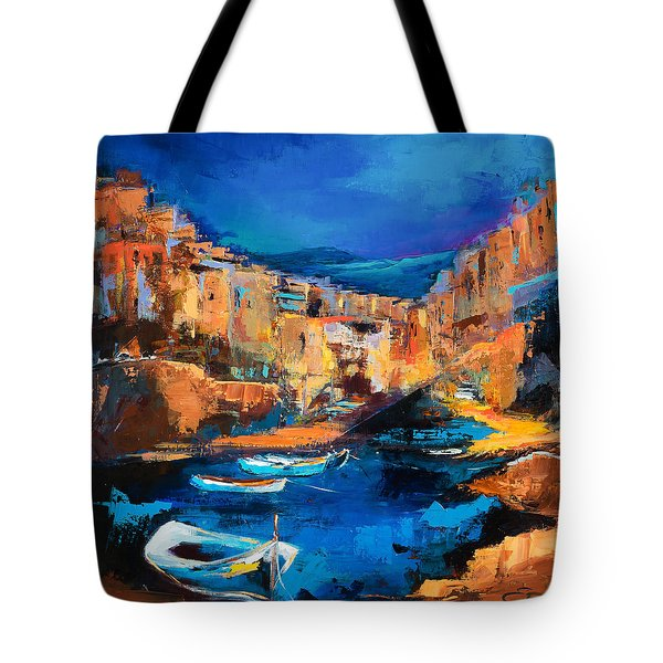 Night Colors Over Riomaggiore - Cinque Terre Tote Bag