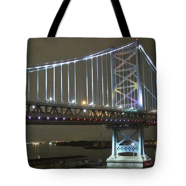 Night Crossing Tote Bag by Rick  Monyahan