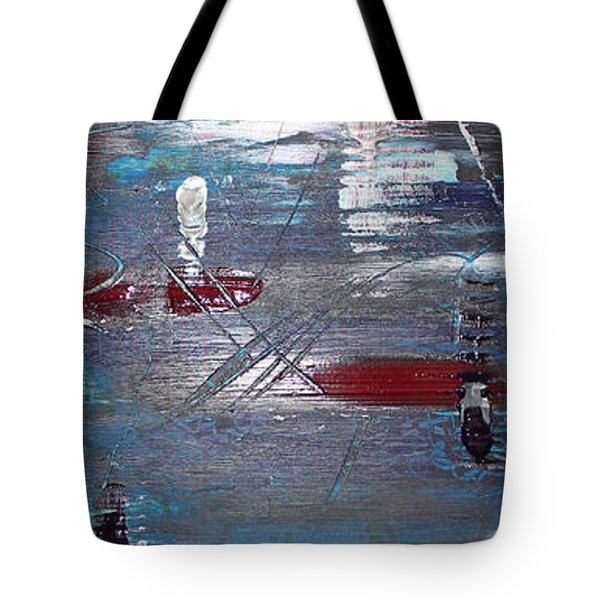 Tote Bag featuring the painting Night Drive by Lucy Matta