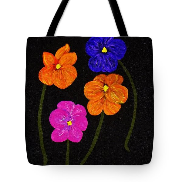 Tote Bag featuring the painting Night Glow by Celeste Manning
