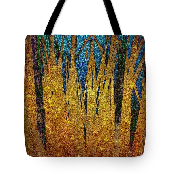 Tote Bag featuring the digital art Night Grass by Darla Wood