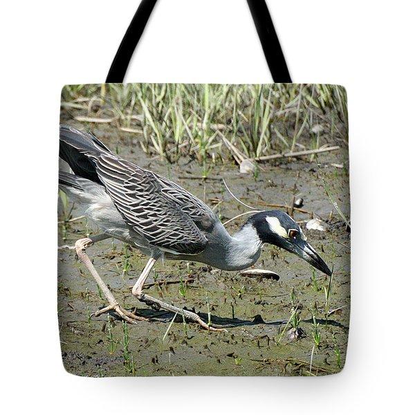 Night Heron Feeding Tote Bag