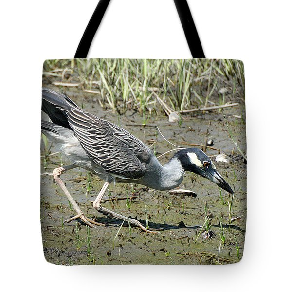 Night Heron Feeding Tote Bag