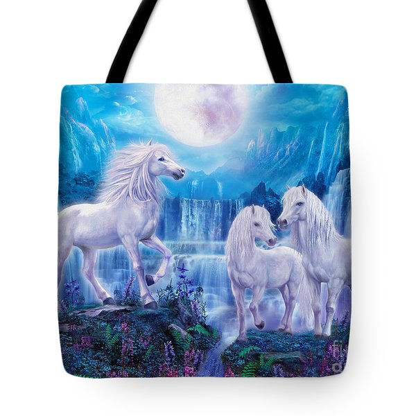Night Horses Tote Bag by Jan Patrik Krasny