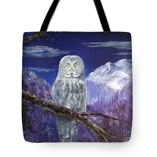 Tote Bag featuring the painting Night Hunter by Lee Piper