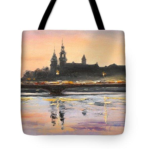 Night In Krakow Tote Bag