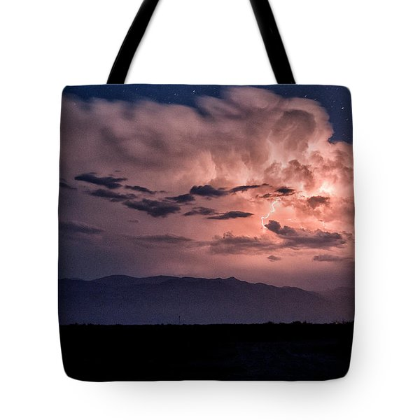 Night Lightning Tote Bag