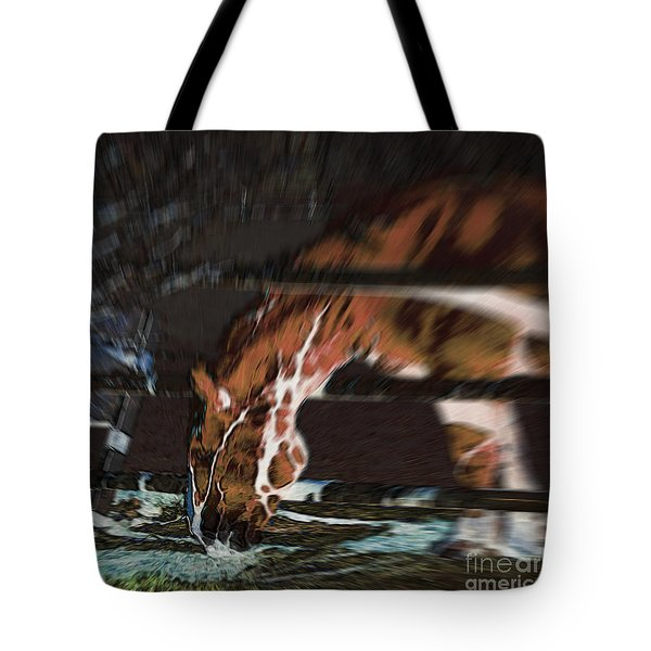 Tote Bag featuring the digital art Night-mare by Stuart Turnbull