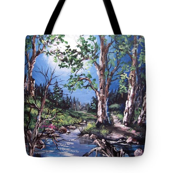 Tote Bag featuring the painting Night Music by Megan Walsh