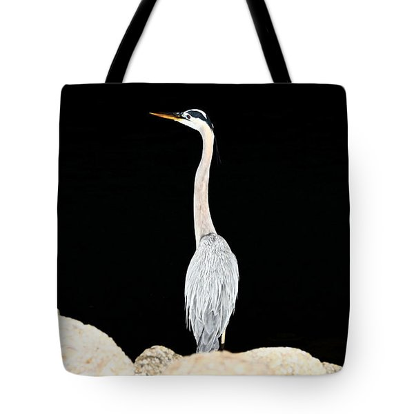 Night Of The Blue Heron  Tote Bag