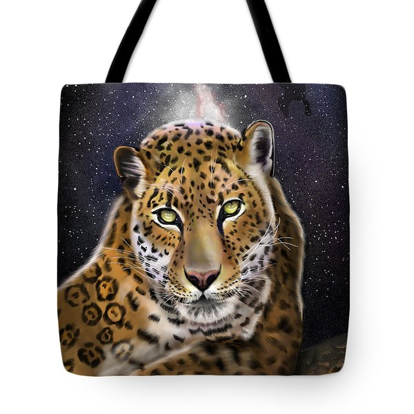 Tote Bag featuring the painting Fourth Of The Big Cat Series - Leopard by Thomas J Herring
