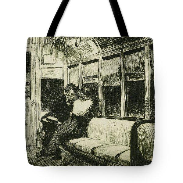 Night On The El Train Tote Bag by Edward Hopper