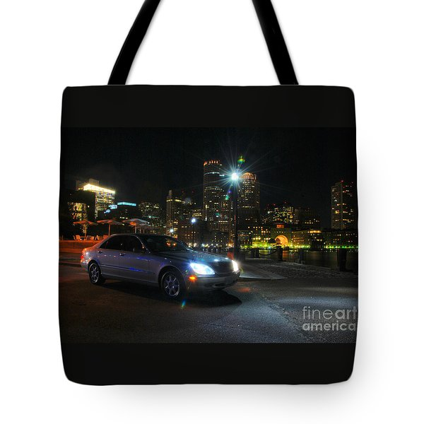 Night Out In Boston Tote Bag