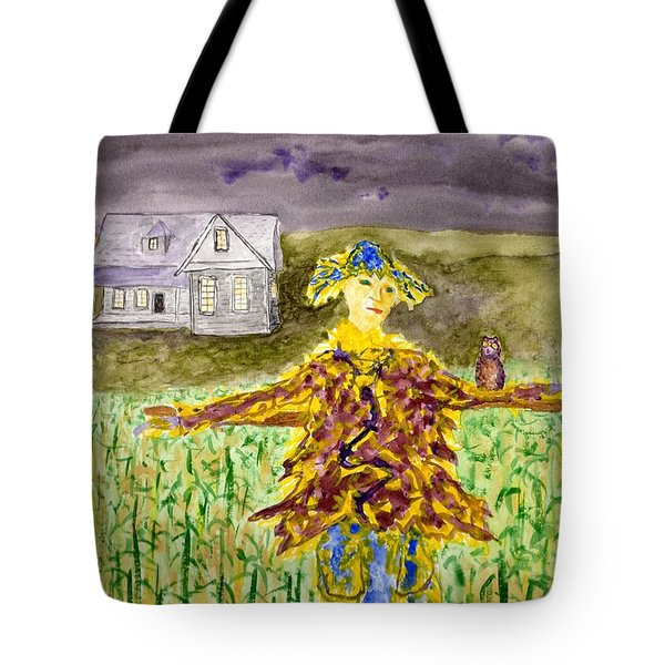 Night Owl Scarecrow Tote Bag