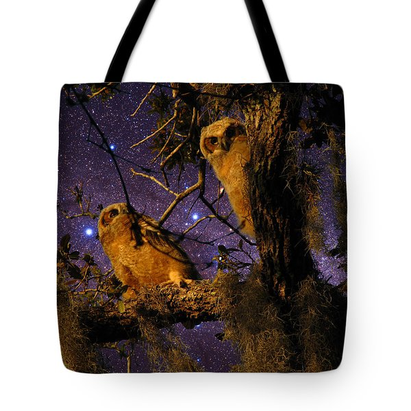 Night Owls Tote Bag by Phil Penne