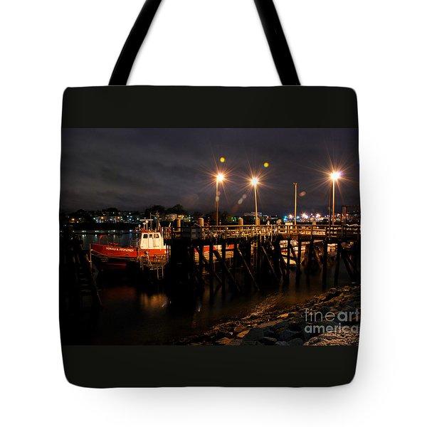 Night Pier Tote Bag