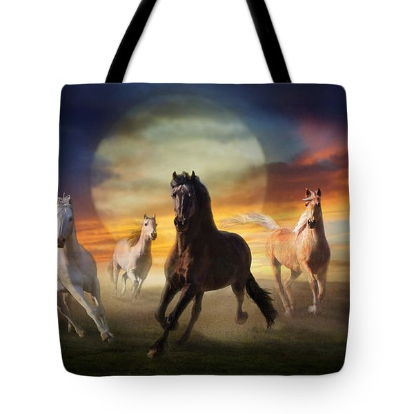 Night Play Tote Bag