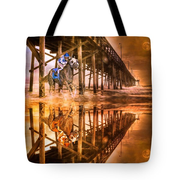 Night Run IIi Patriotic  Tote Bag by Betsy Knapp