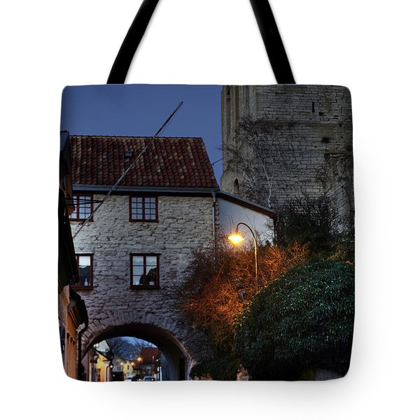 Night Scene In Medieval Town Tote Bag by Ladi  Kirn