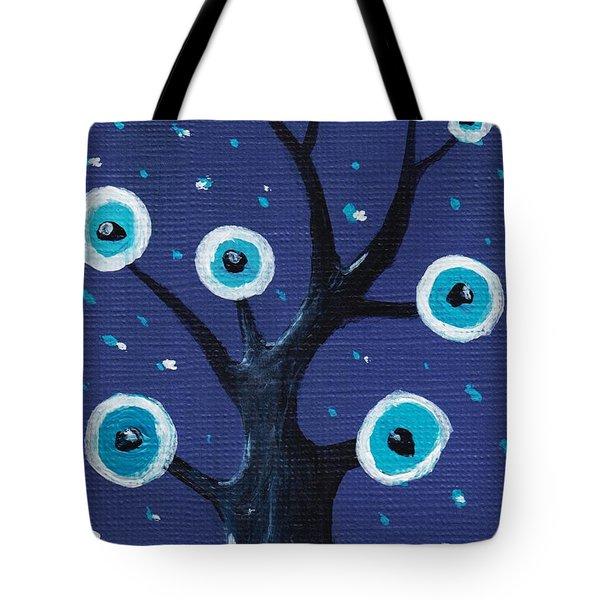 Night Sentry Tote Bag by Anastasiya Malakhova