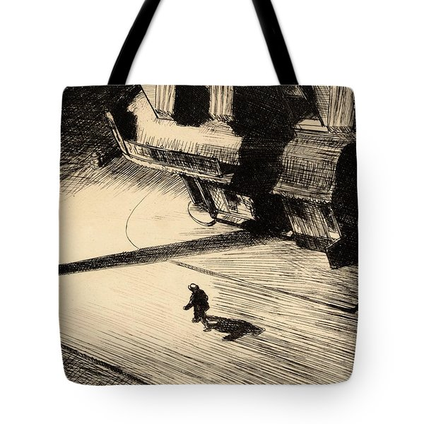 Night Shadows Tote Bag by Edward Hopper
