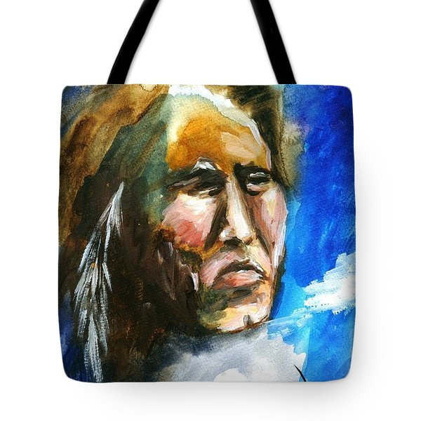 Tote Bag featuring the painting Night Spirit by Karen  Ferrand Carroll