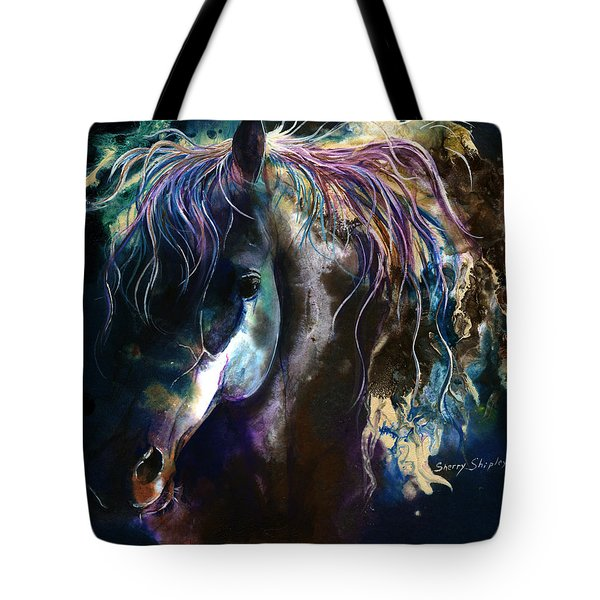Night Stallion Tote Bag