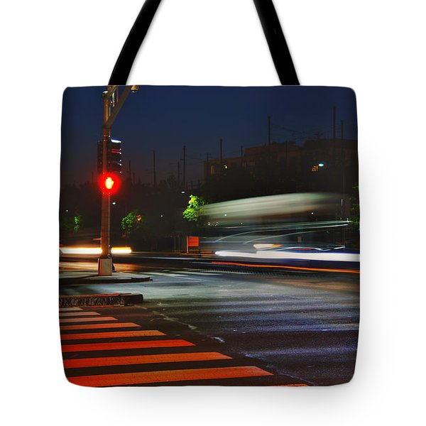 Night Streaks Tote Bag by Joann Vitali